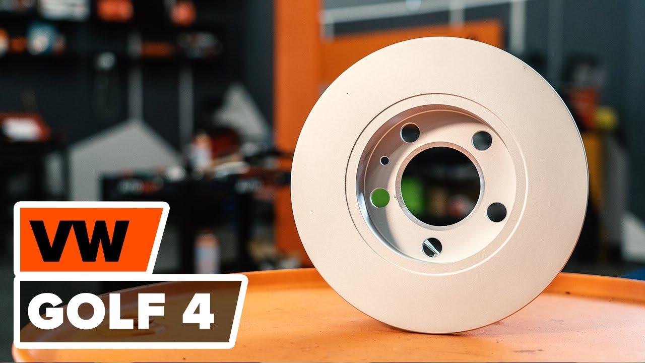 comment remplacer des disque de frein plaquettes de frein avant sur une vw golf 4 youtube. Black Bedroom Furniture Sets. Home Design Ideas