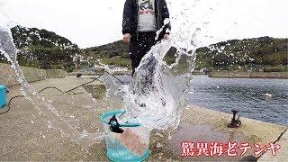 驚異!堤防からテンヤで大型3匹ひらめ釣る thumbnail