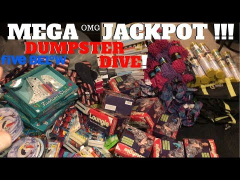 SUPER! MEGA JACKPOT! Truck Load Of Brand New Stuff In Five Below Dumpster! Dumpster Dive Night #71
