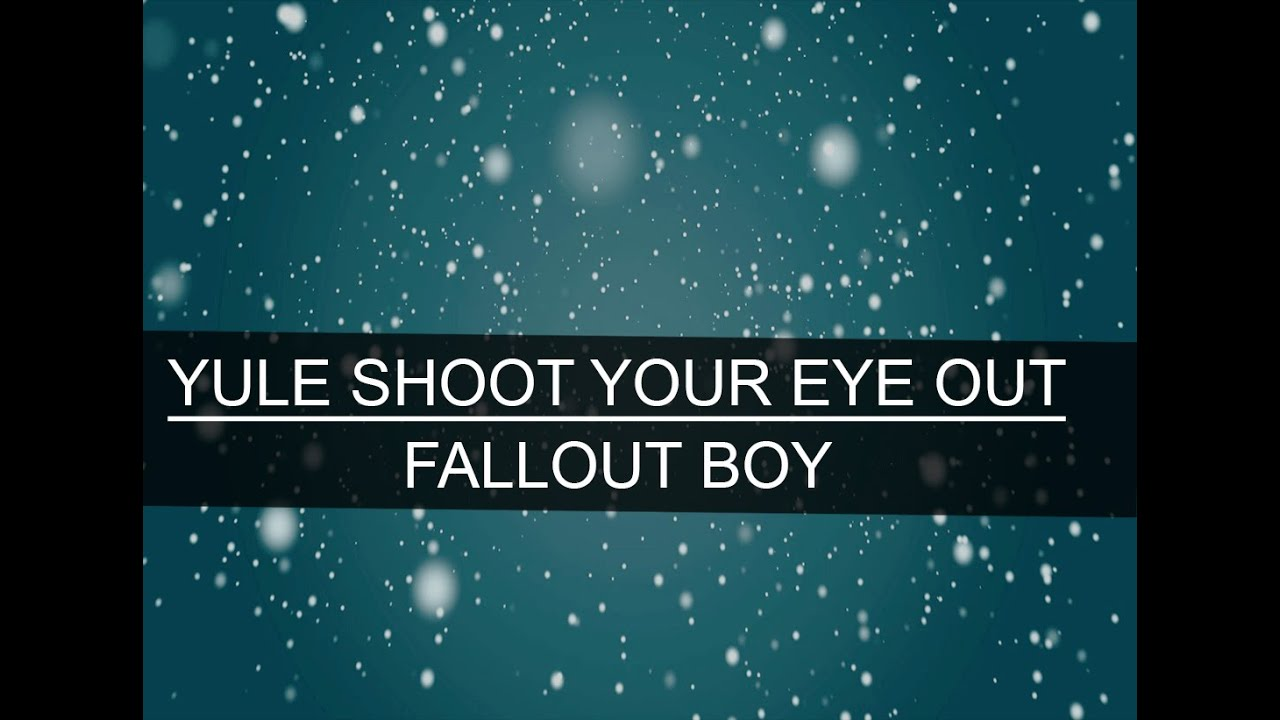 yule shoot your eye out