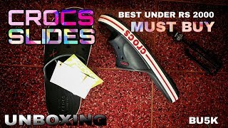 Crocs slides best under Rs 2000 cool for youngsters Unboxing.