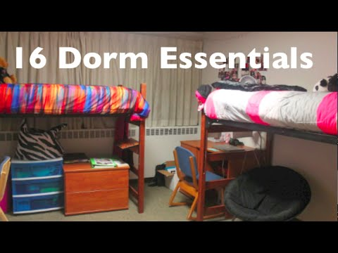 College Dorm Room Essentials YouTube - Dorm room essentials