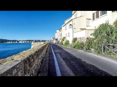 Antibes, France,  Côte d'Azur. Walk in the Old Town. Early Morning