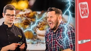 ELECTRIC SHOCKING RECIPE CHALLENGE | FridgeCam