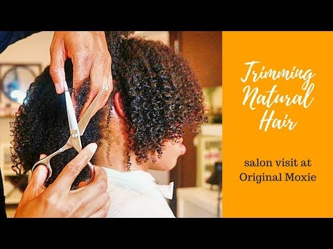 Trim & Style Natural Type 4 Hair | Salon Visit + HUGE ANNOUNCEMENT!!!!