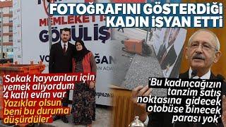 """Kılıçdaroğlu'nun Fotoğrafını Gösterdiği Kadından Sitem: """"Yazıklar Olsun''"""