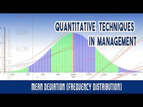 Measures of Dispersion: Mean Deviation (Frequency Distribution)