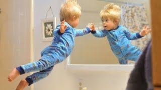 BEST FUNNY FUNNIEST BABIES REACTING TO MIRRORS | Babies Videos Compilation