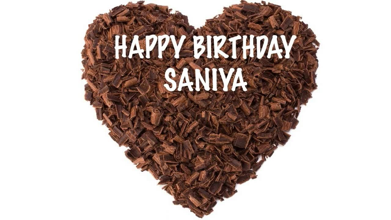 SaniyaSanya Saniya Like Saanya Chocolate Happy Birthday YouTube