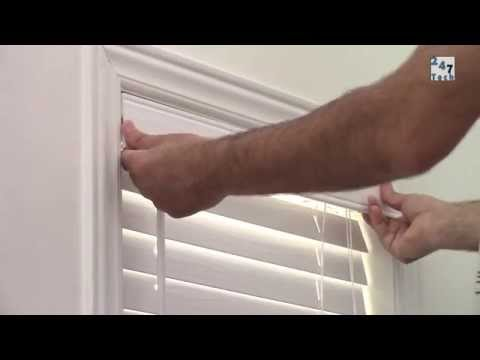 Installing and shortening blinds 247-005