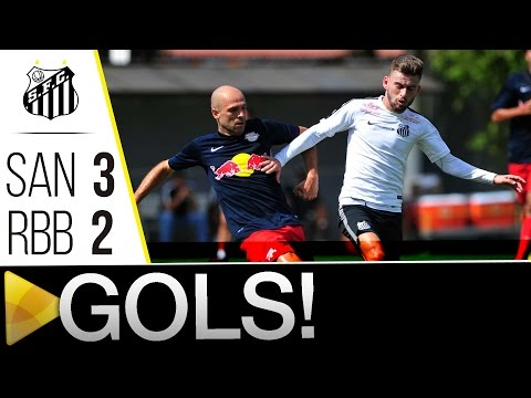 Santos 3 x 2 Red Bull Brasil | GOLS | Jogo Treino (17/01/16)