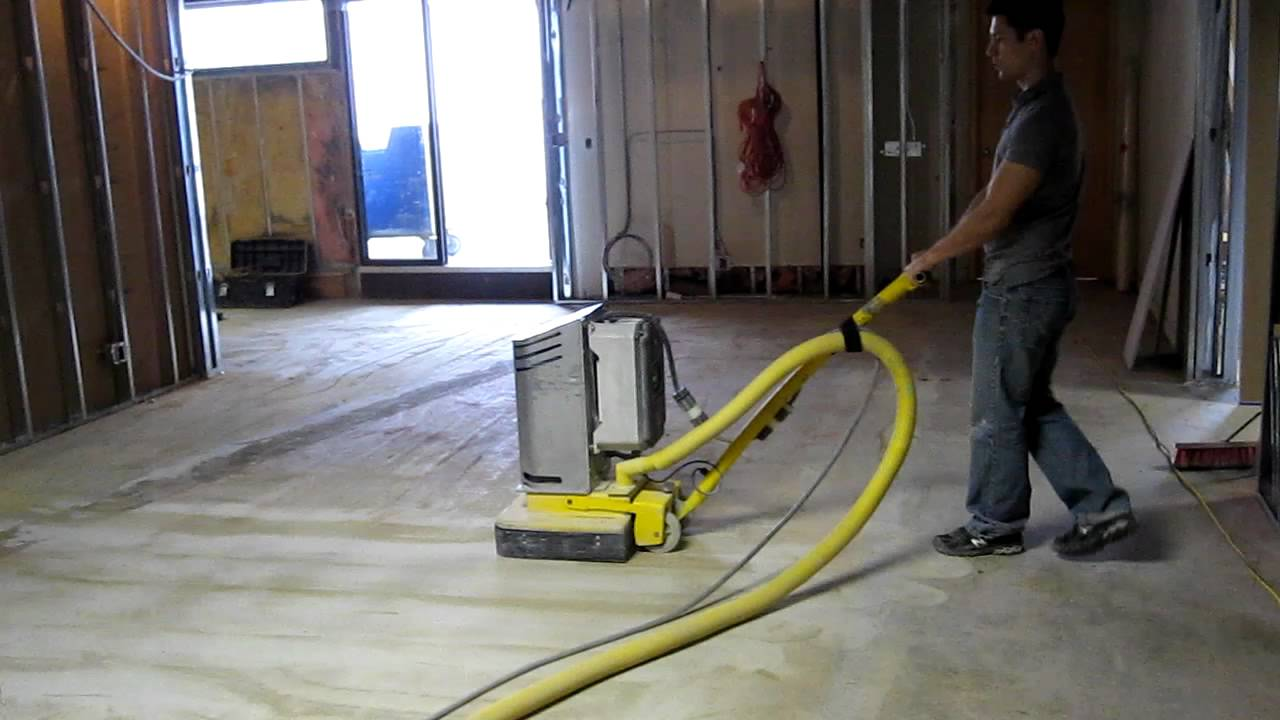Refinishing A Concrete Floor Youtube