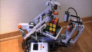 Lego Mindstorms nxt Rubik's cube solver mindcuber +building instruction HD thumbnail