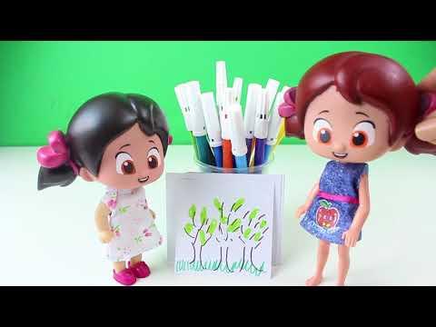 Niloya Renkleri Öğreniyor Hem Türkçe Hem İngilizce Renkler Eğitici Çocuk Oyunları Çizgi Film