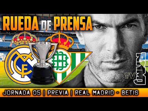 Real Madrid - Betis Rueda de prensa de Zidane (19/09/17) | PREVIA LIGA JORNADA 05