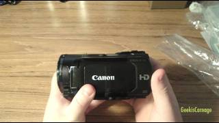 Canon Vixia HF-S20 HD Camcorder Unboxing & Overview