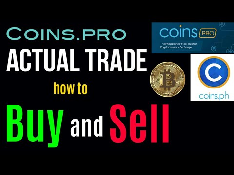 Coins.pro Full Tutorial For Bigginers ( Tagalog) Actual Buy And Sell Watch