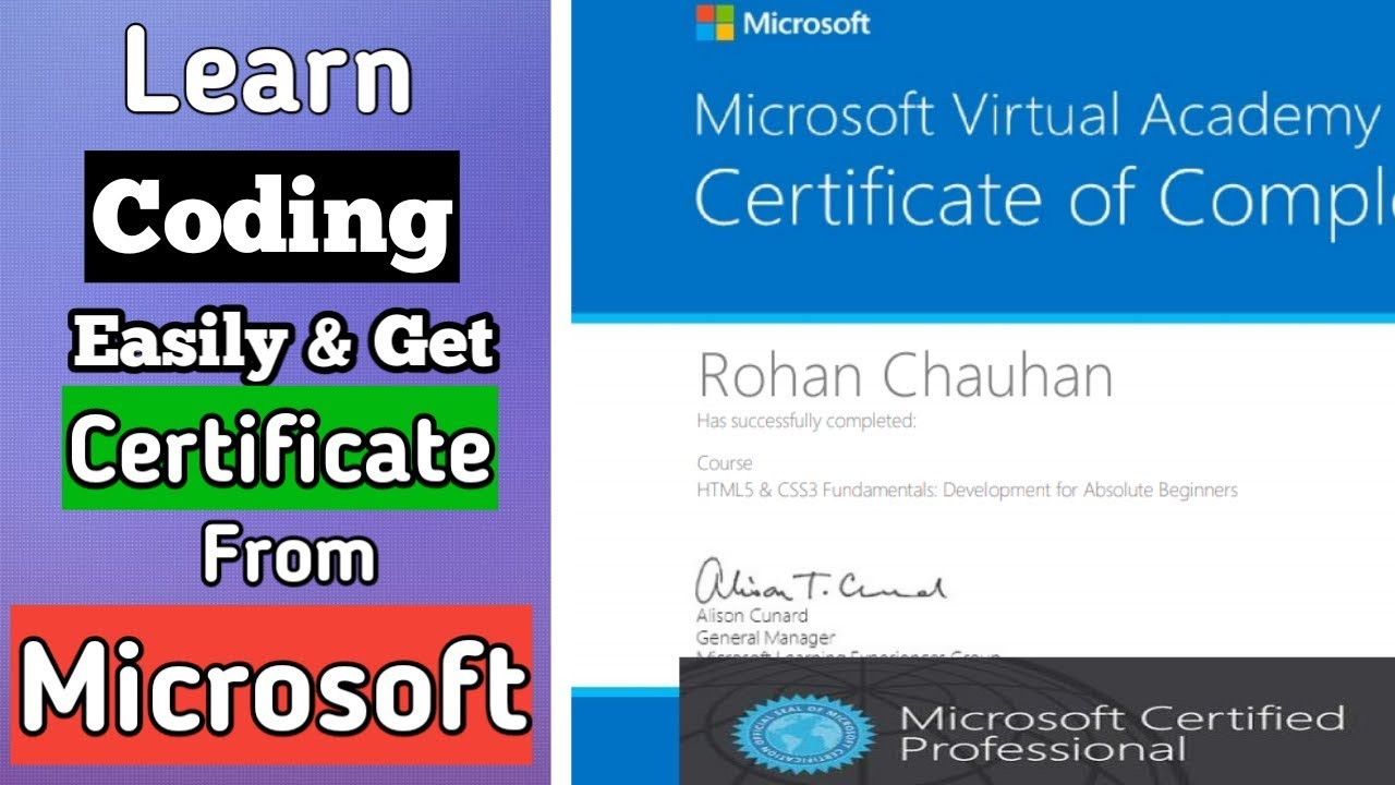 Online Course Certification From Microsoft Youtube