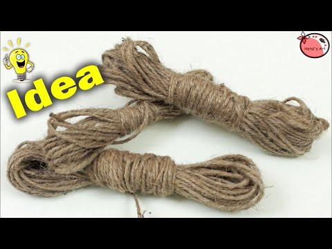 Jute Craft Decoration Idea | DIY Room Decor | Handmade Things | Showpiece Making at Home | How to