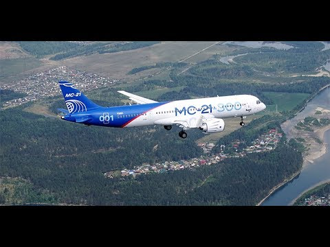 Первый полёт МС-21 / Russian narrowbody aircraft MC-21 first flight