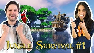 JUNGLE SURVIVAL MET ROLE PLAY #1! - MINECRAFT