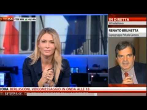 Italia - Sky TG24 figuraccia giornalista intervista Renato Brunetta Capogruppo PdL Camera