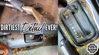 Download DEEP CLEANING The Nastiest Car Ever! Complete Disaster Full Interior Car Detailing Transformation! Mp3 and Videos