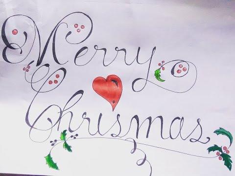 how to write merry christmas cursive writing sidhant gupta