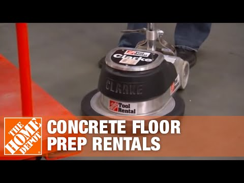 The Home Depot Tool Rental Center Concrete Floor Preparation