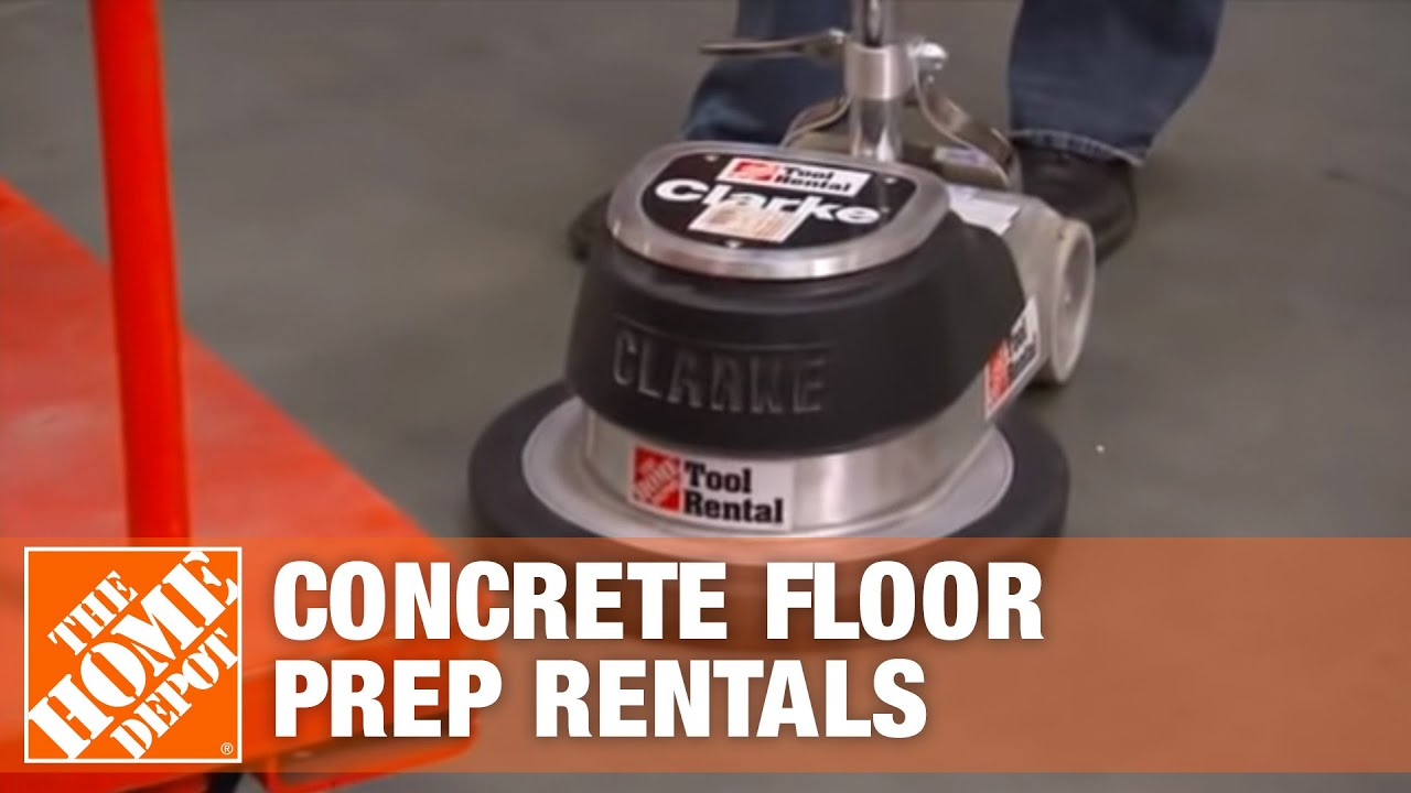 Easily mounts on a floor polisher or maintainer. Concrete Floor Preparation Tool Rental Center The Home Depot Youtube
