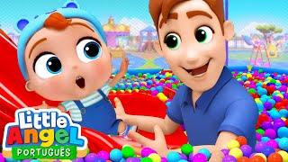 Um Dia no Parquinho! | Vídeo Infantil | Little Angel Português