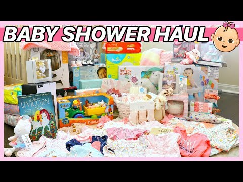 HUGE BABY SHOWER HAUL + WHY WE CHOSE BABY GIRL'S NAME!
