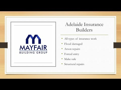 Insurance building repair works in Adelaide - All types of building work in any location across SA