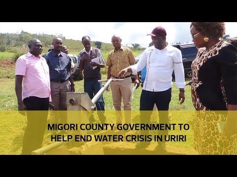 Migori county government to end water crisis in Uriri