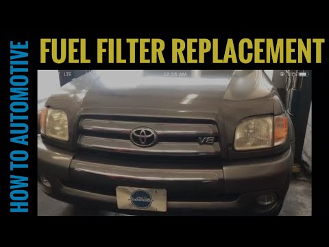 How To Replace The Fuel Filter On A 2000 2009 Toyota Tundra Youtube