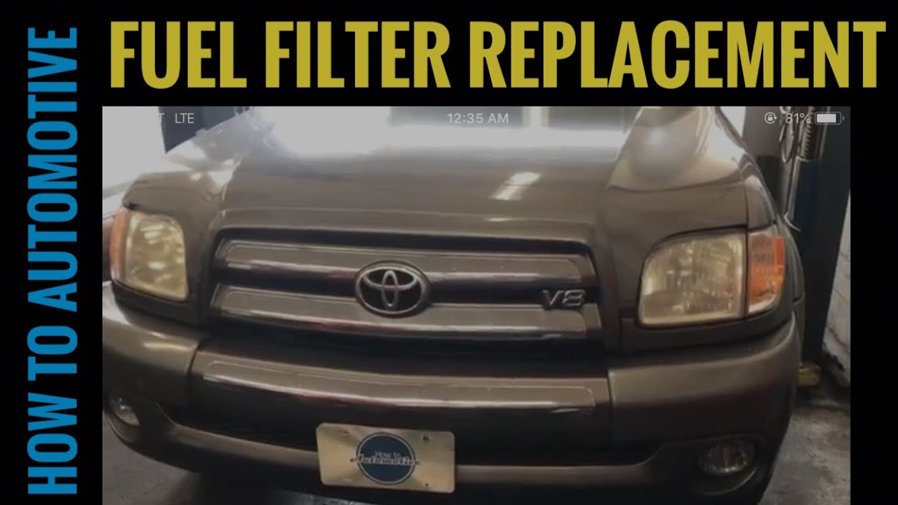 how to replace the fuel filter on a 2000 2009 toyota tundra youtube [ 1280 x 720 Pixel ]