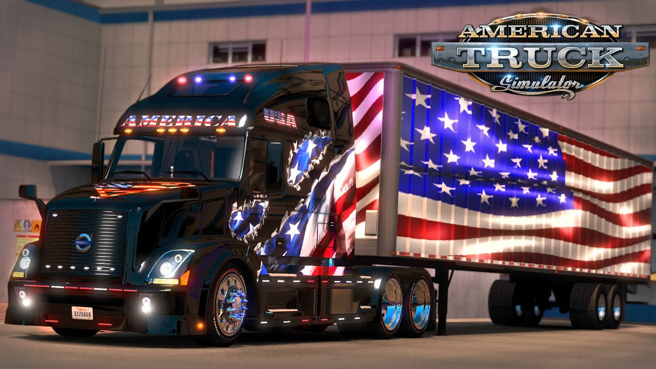 American Truck Simulator 9 11 Tribute Flags To New York