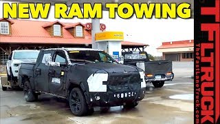 Spied! 2019 Ram 1500 Prototype Towing A Jeep Grand Cherokee
