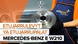 Jarrupalasarja irrottaminen MERCEDES-BENZ - video-opas