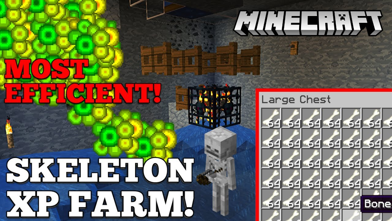 Minecraft 1 15 Skeleton Xp Farm Bone Farm Youtube