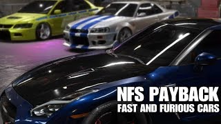 Need For Speed Payback | Fast and Furious cars