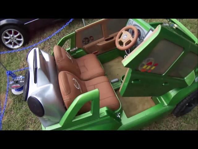 custom power wheels cadillac escalade hulk modified autos antiguos