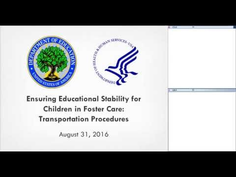 Ensuring Education Stability for Children in Foster Care: Transportation