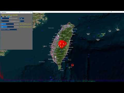 1999/9/21 Taiwan 921 ChiChi (Chi Chi) earthquake 集集地震 動態圖