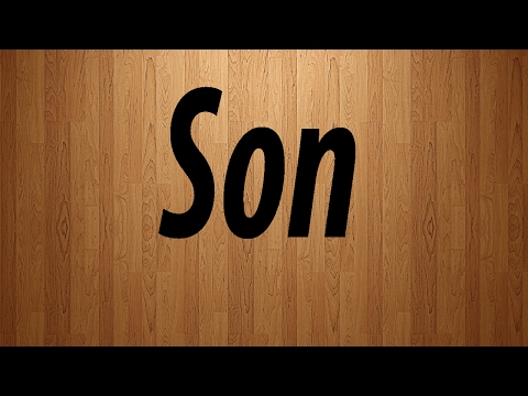 How do you say my son in french