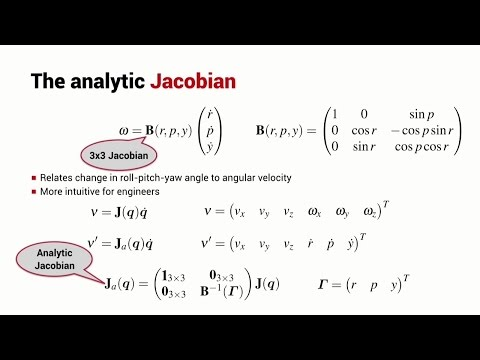 The Analytic Jacobian | Lesson | Robot Academy