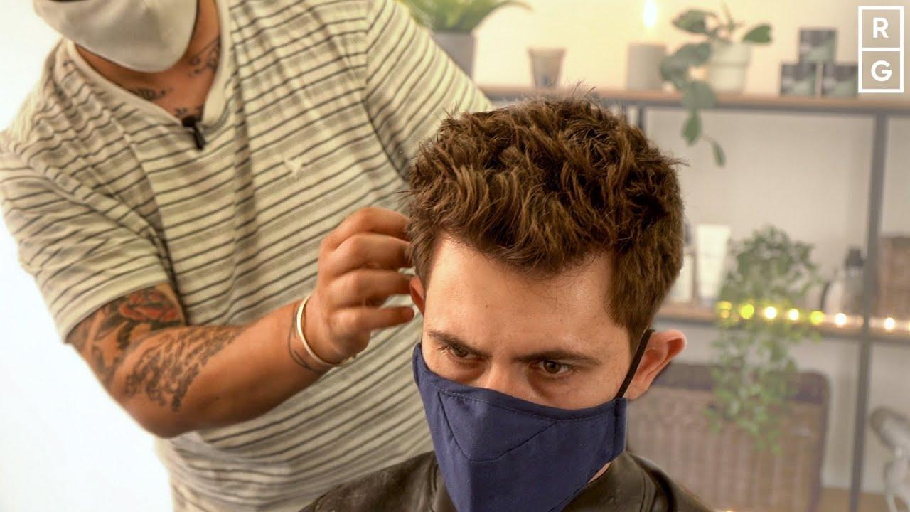 Short Spiky Mens Hairstyle (Brad Pitt FIGHT CLUB Inspired Haircut)