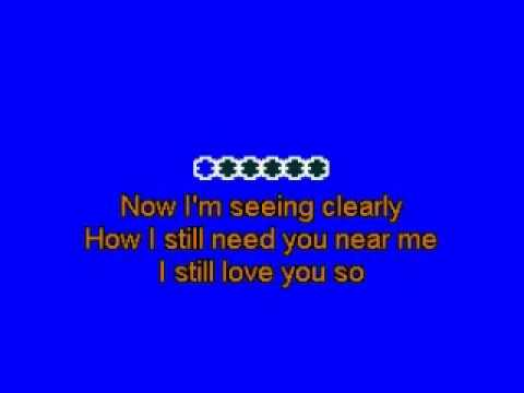 PEABO BRYSON if ever you're in my arms again (lyrics/karaoke)