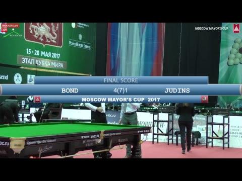 SNOOKER | MOSCOW MAYOR'S CUP 2017 | Nigel Bond vs Rodions Judins. Best of 7