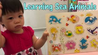GOOD BABY LEARNING SEA ANIMALS |  Wooden Puzzle for Children| 20 months old